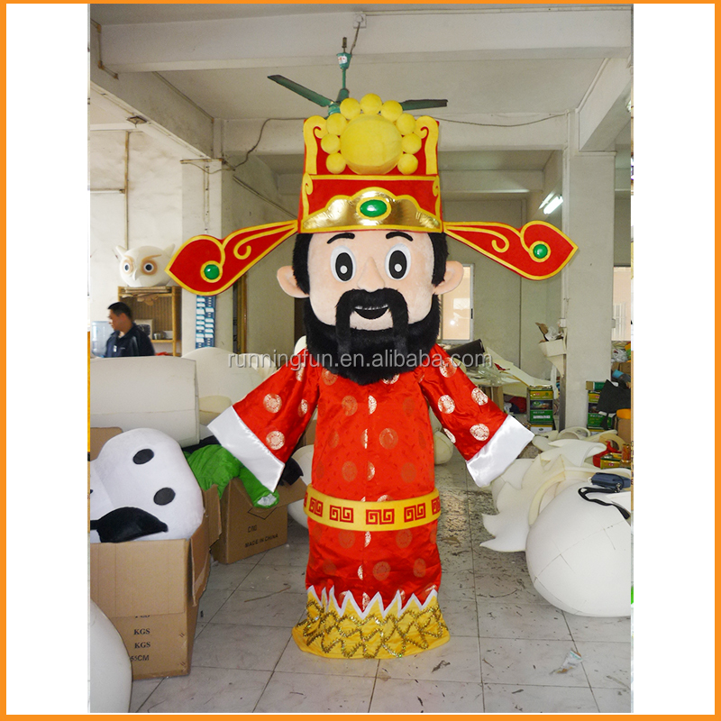 Chinese God of Wealth mascot costume,god of fortune costume