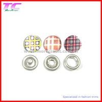 decorative prong snap fastener for quality baby's wear