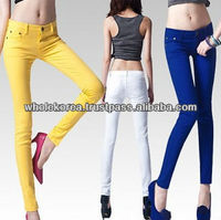 Wholesale Korean Fashion for woman, Korean wholesale clothing, Vivid Colored Skinny Jean