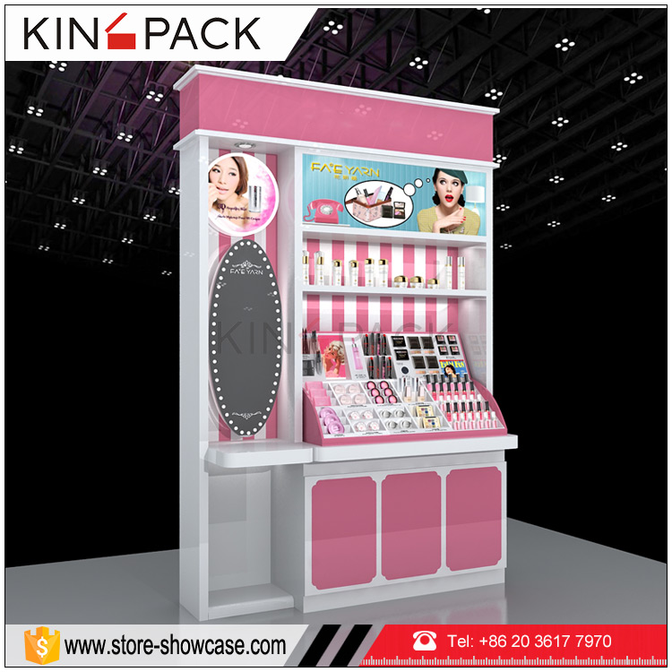 New arrival professional makeup <strong>display</strong> stands shelves for cosmetic retail store