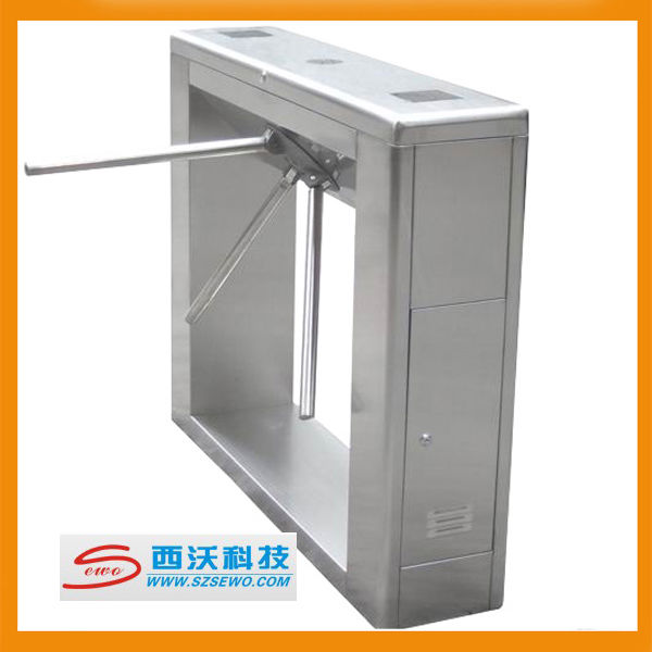 RFID access control waist height electronic security systems turn stiles