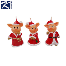 Cheap christmas animal candle wax, lovely pig shaped candle wax