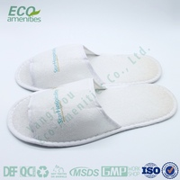 personalized Brushed fleece best hotel slippers in China