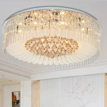 Modern led Dubai luxury round crystal decoration ceiling light