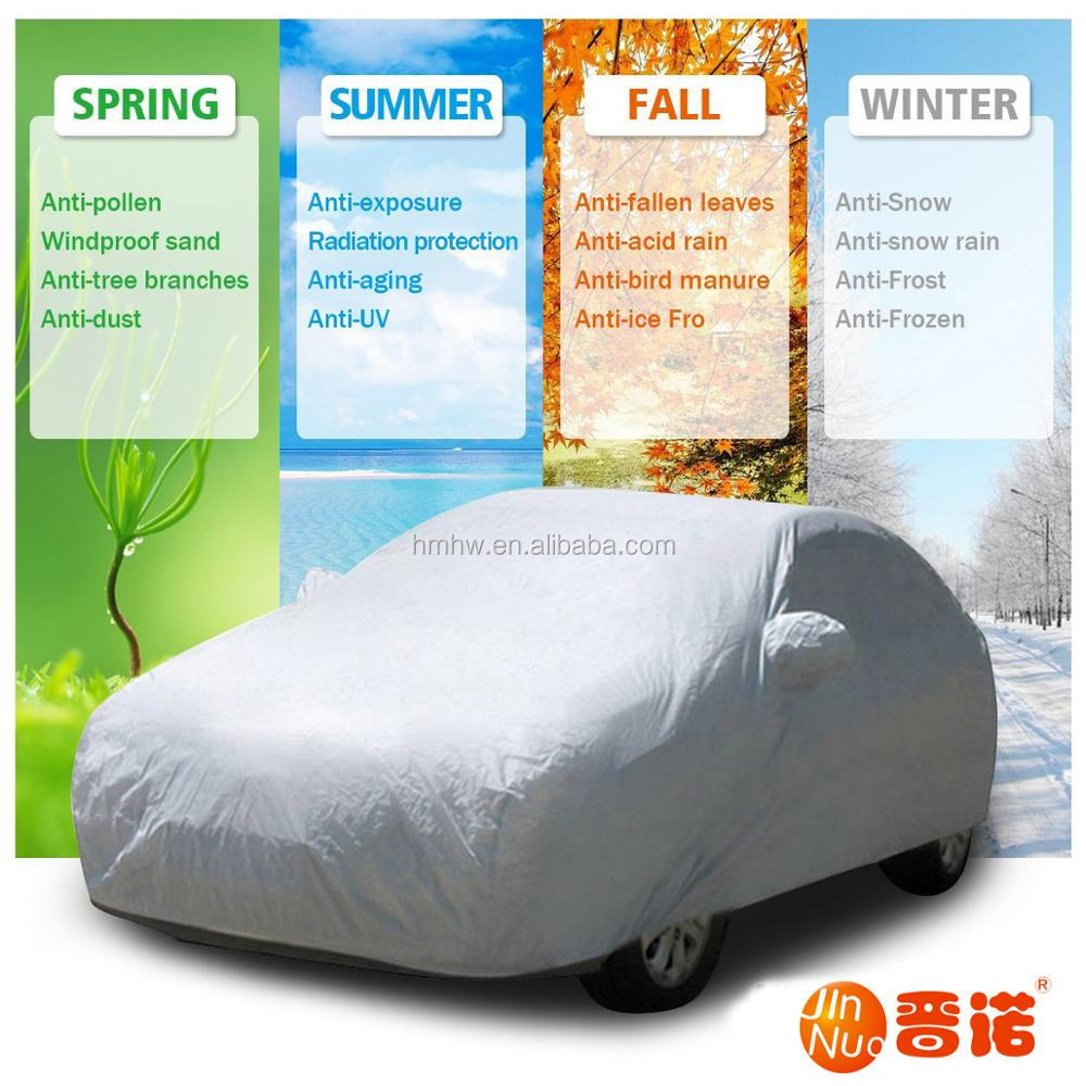 190T Polyester Waterproof Dustproof Good Quality Universal Half Car Cover
