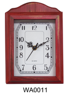 Decorative antique wood key box wall clock