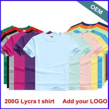 Low MOQ Custom Printing Custom Embrodiery T Shirt On Finished 95% Cotton 5% Elastane T Shirt