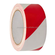 "Red & White Hazard Warning/Safety Stripe Tape 2"" x 36 Yard"