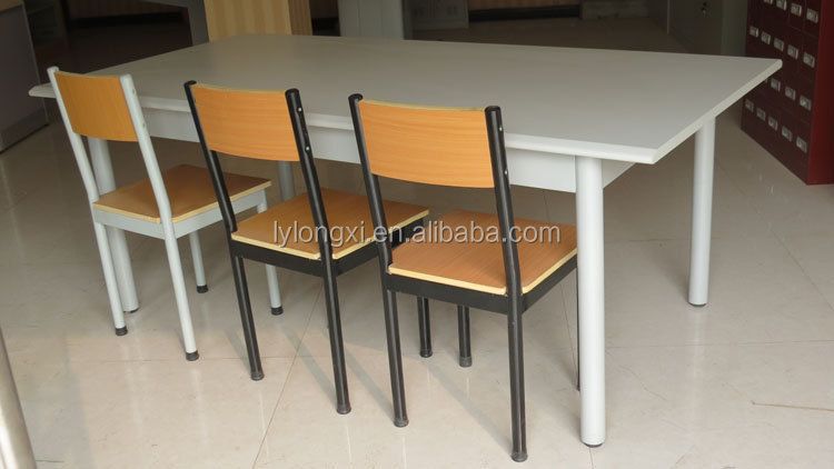 Hight qualitymetal reading table for 4 person designs for Reading table design