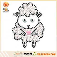 Qingdao Accessory Wholesale Iron-on Rhinestone Sheep Transfer For Apparel