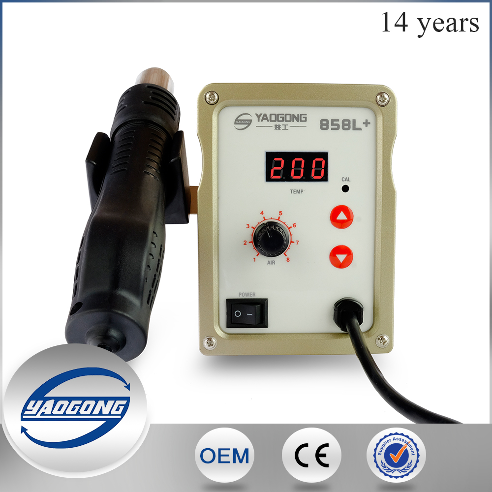 Mobile phone repair tools YG858L+ hot air smd rework station with high quality in good price