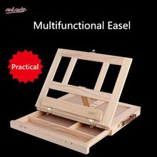 MMT The latest Technology Integrated Function wooden sketch box easel