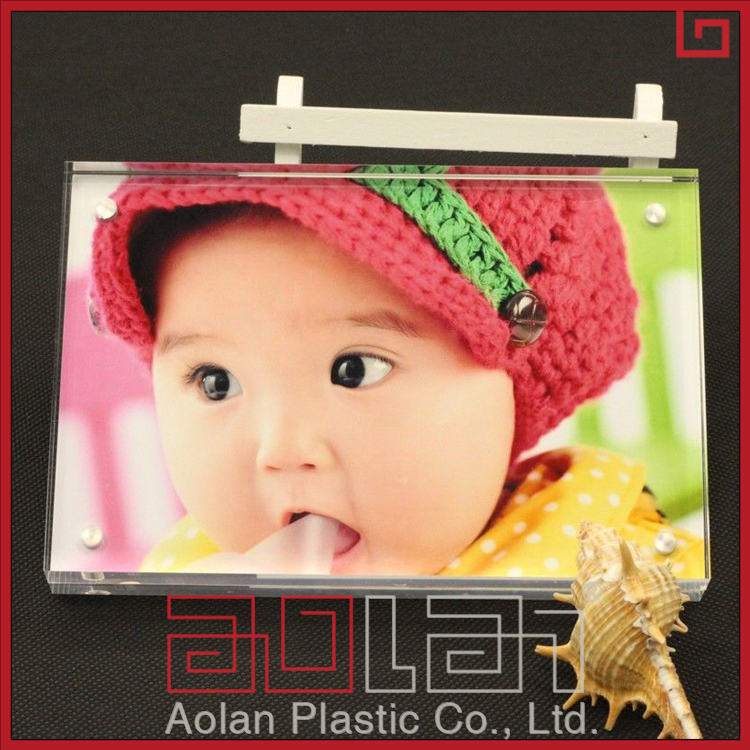 6 inch clear photo frame funny baby acrylic rectangle picture frame can carved words for home