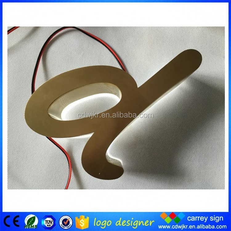 Free customized laser cut metal illuminated 3d acrylic sign letters