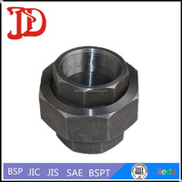 Galvanized Thread Hydraulic Fittings ,JIC Male / Female Union,Straight Adapter