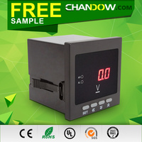 Factory price 12V digital dc voltmeter 96*96 with relay contact output for Euro-market