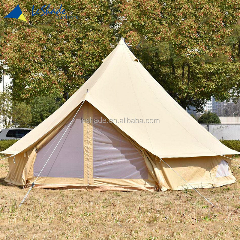 Cotton fabric winter camping outdoor canvas bell tent