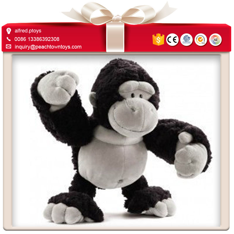 Strong muscle black chimpanzee stuffed toy plush ape