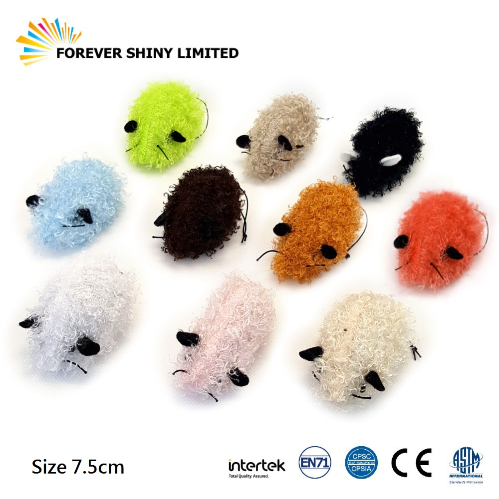 2018 Hot Sale Unique Promotional Small Capsule Toy 7.5cm Plush Mouse Voodoo Doll for Vending Machine