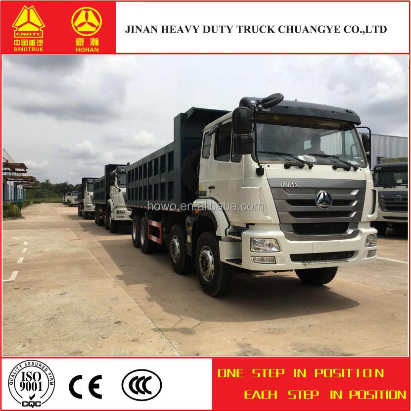 China suppliers 2016 hot sell sinotruk 8X4 used dump truck price