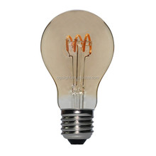 Top Sale A60 A19 Flexible Filament LED Spiral Light Edison Style Bulbs