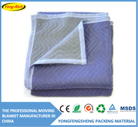 non-woven filled with recycled cotton quilted used moving pads