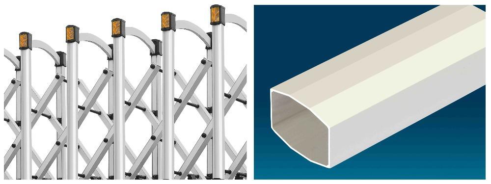Industrial Retractable Gates : Driveway retractable gate telescopic barrier door foldable