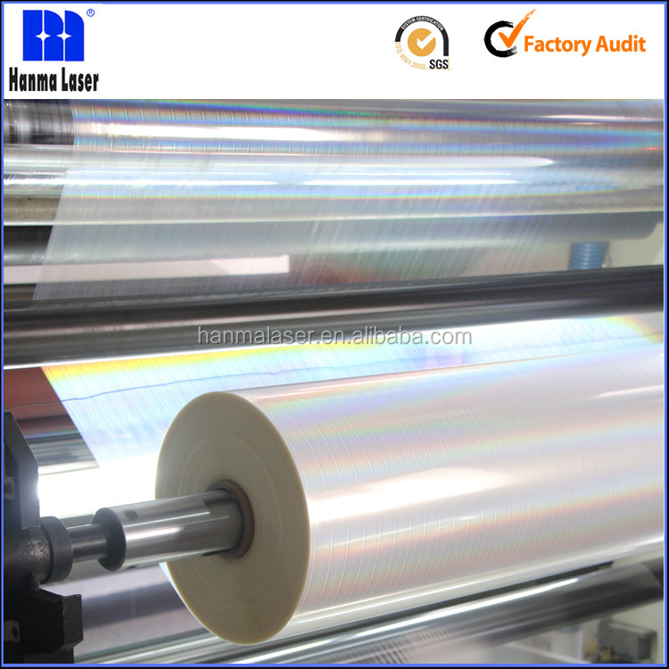 Customized BOPP Thermal Laminating Holographic Transparent Film