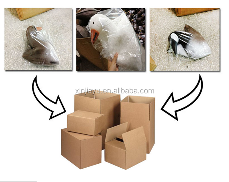 wholesale folding snow goose decoys for hunting with factory price, soft EVA foam snow goose for decoy garden decoration