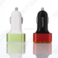 dual usb car charger with 12v socket,12v 2a output usb car charger