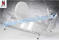 Useful Design Folding Stainless Steel Dish Rack/Polishing Mental Kitchen Dish Shelves Display/Wire Home Display Rack For Dish