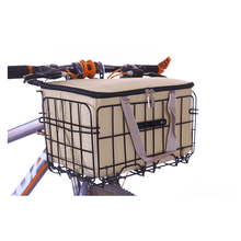 Kids Bike Basket Front Rear Basket for Tricycle Bicycle Folding Picnic Baskets