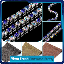 Bling Bling 6mm fashion strass rolls rhinestone cup chain for evening dress