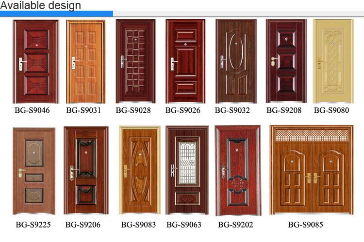 Bg S9006b Steel Main Door Production Line Fancy Metal Doors Buy Steel Door