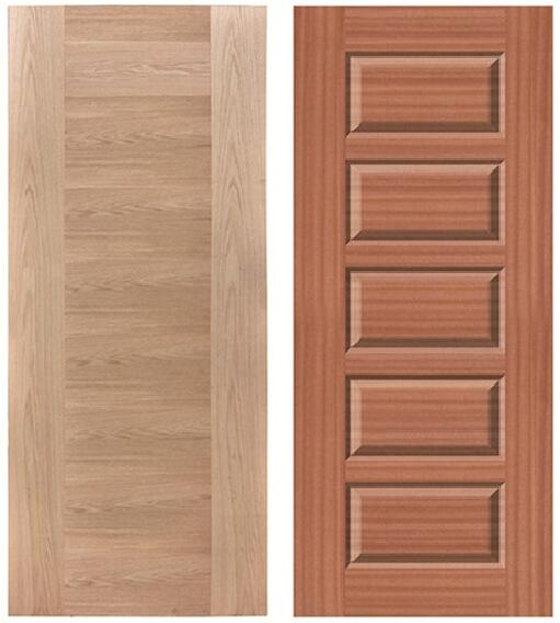 New product red <strong>oak</strong> door skin panel