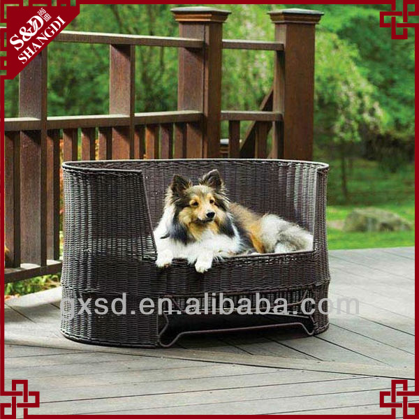 S&D Promotional price pet accessories handmade rattan pet sofa bed