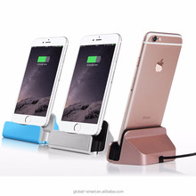 Premium top quality cell phone stand holder desktop stand charging dock with cable for iPhone Android usb