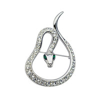 Wholesale cheapest rhinestones brooch decorations Snake brooch with Austrian Diamond for party