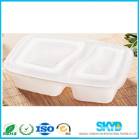 white food-grade polystyrene plastic disposable food foam trays