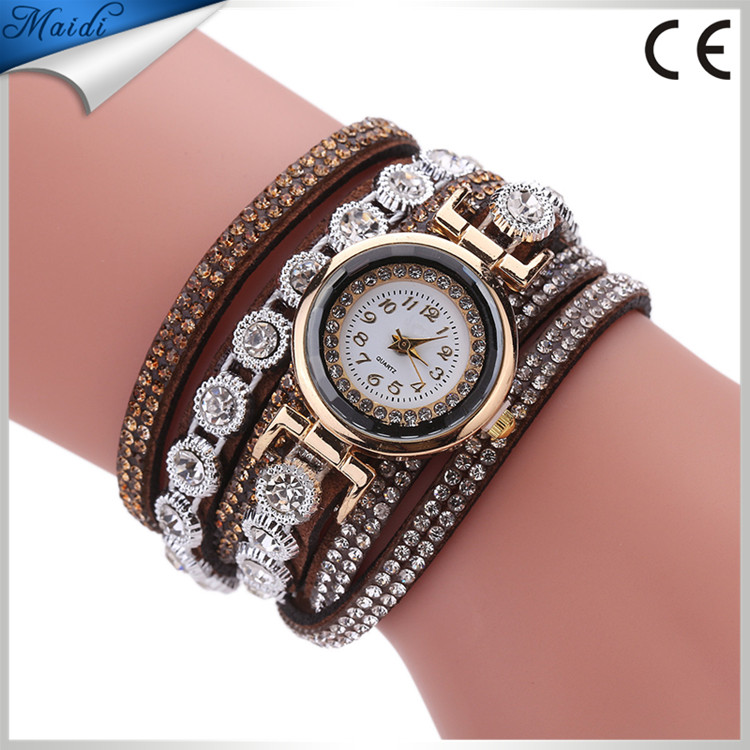 2017 Women Dress Quartz Wrist Watches Luxury Rhinestone Leather Bracelet Watch relogio feminino Hour WW071