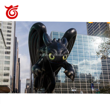 PVC Inflatable Cartoon Characters Giant Black Inflatable Toothless Dragon balloon