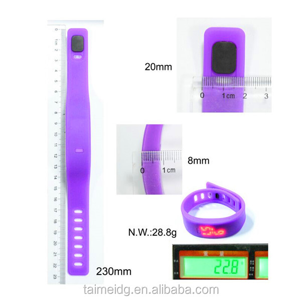 OEM logo unisex led touch screen watch