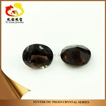 Faceted cut oval shaped natural rough smoky quartz gem stones