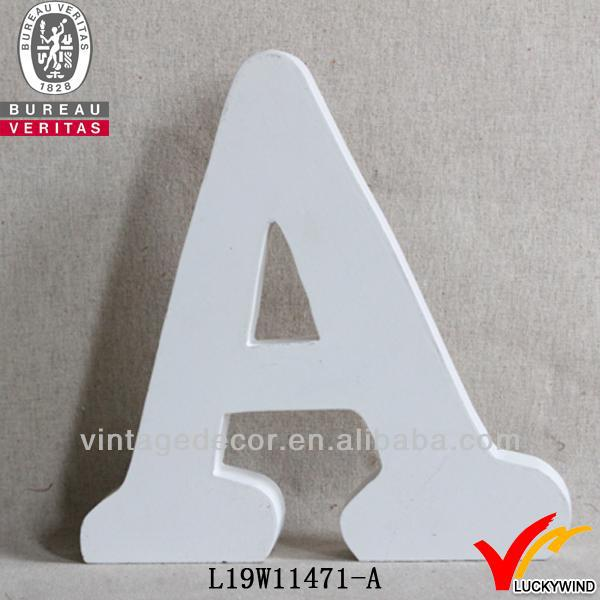 Unique Handcraft Wood Shabby Chic White Letter Decor