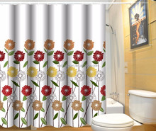 Durable and modern designs printing finished shower curtain