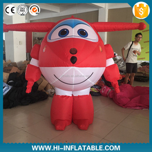 High quality inflatable airplane cartoon Super Wings cartoon replica