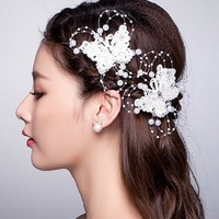 Wholesale High Quality Handmade Butterfly Hairpins For Bridal