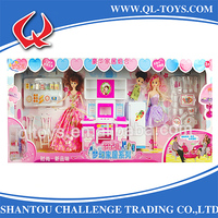 Hot Selling Luxury Fashion Kids Kitchen Set Toy With Barbie Doll