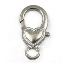 lobster clasps heart shape clasps stainless steel clasps