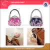Ladies souvenirs Elegant flower bag holder table top purse hanger enamel bag hook metal bag accessories
